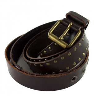 Weekend Max Mara Brown Studded Leather Belt