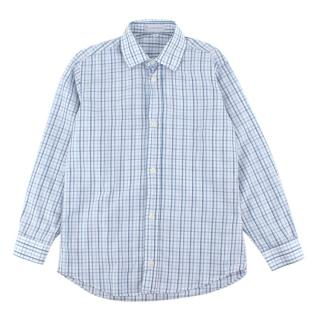 Il Porticciolo Blue Checkered Cotton Long Sleeve Shirt