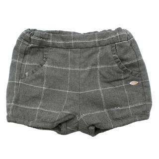 =Tartine et Chocolat Grey Checkered Flannel Shorts