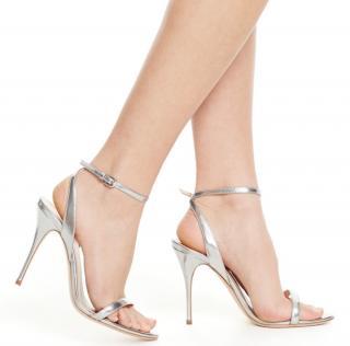 Polo Ralph Lauren Metallic Silver Sandals