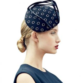 Jane Taylor Polka Dot Tulle & Satin Cocktail Hat
