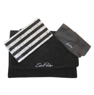 Edie Parker Black & Silver Acrylic Box Clutch