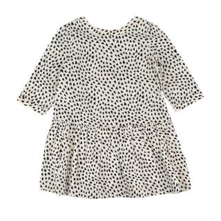 Bonpoint Black & White Heart Print Cotton Dress