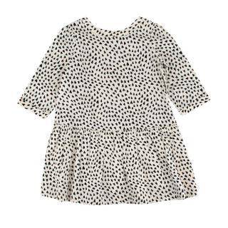 Bonpoint Black & White Heart Print Cotton Dress