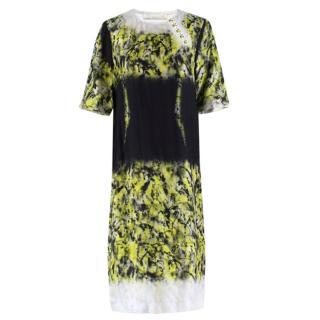 Proenza Schouler Neon Green Patterned Long Dress