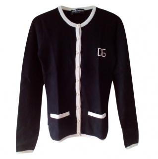 Dolce & Gabbana Black & White Knit Cardigan