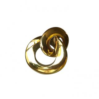 Christian Dior Yellow Gold Plated Vintage Brooch