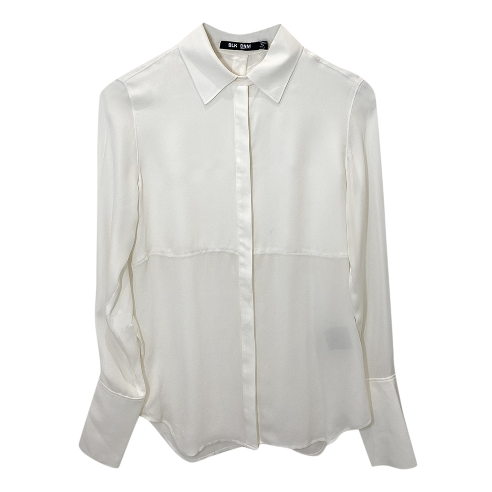 BLK DNM Off-White Silk Shirt
