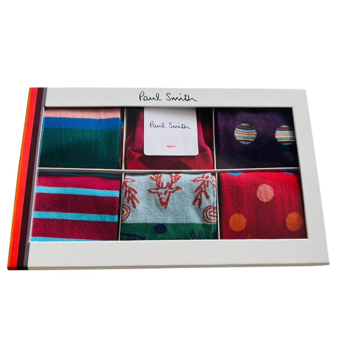 Paul Smith Men's Gift Set of Socks - 6 Pairs