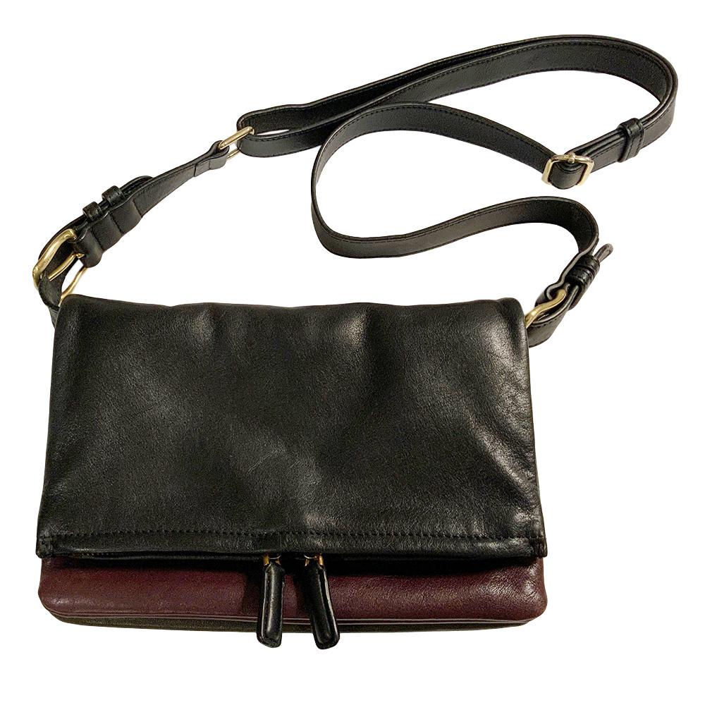 IRO Two-Tone Leather Crossbody Messenger Bag