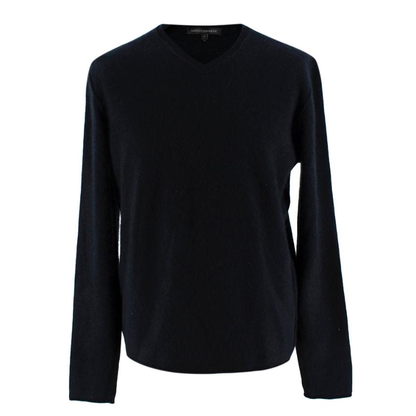 Naked Cashmere Black Cashmere V Neck Sweater