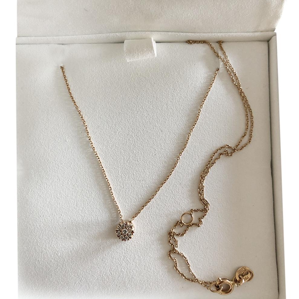 Bespoke 18ct Yellow Gold Diamond Pendant Necklace