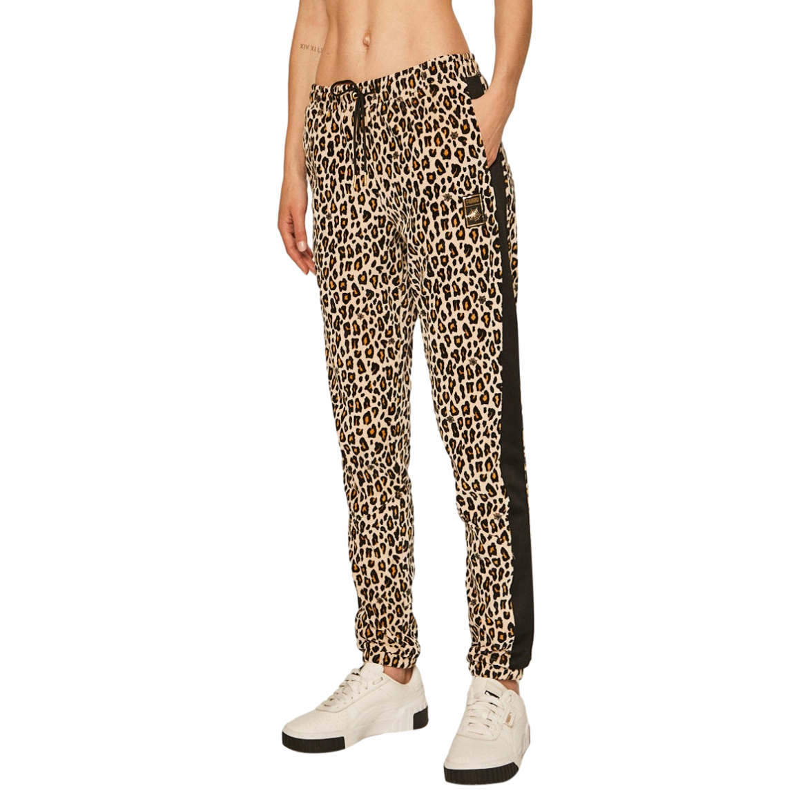 Charlotte Olympia leopard print velvet joggers