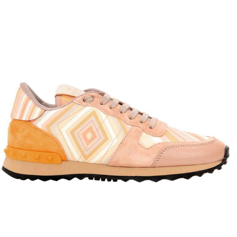Valentino Aztec Print Rockstud Sneakers