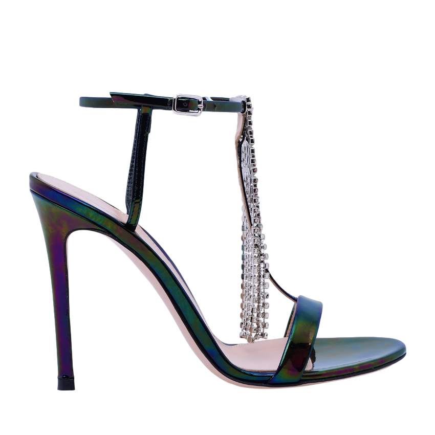 Gianvito Rossi Selma 105 Crystal Sandals