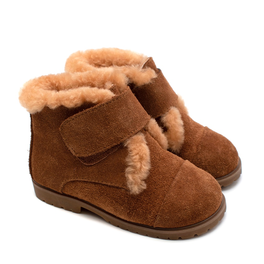 Bespoke Brown Suede Shearling Lined Ankle Boots