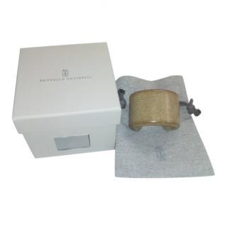 Brunello Cucinelli Pale Brown Leather Cuff
