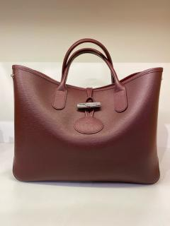 Longchamp Brown Roseau Leather Tote Bag
