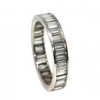 Bespoke Full Diamond Eternity Ring in 18ct White Gold