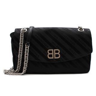 Balenciaga Black BB Round Small Shoulder Bag - New Season
