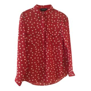 The Kooples Chiffon Red Spotted Blouse