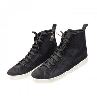 Louis Vuitton Black Monogram High Top Sneakers