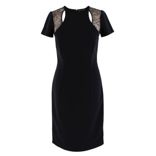 Gianni Versace Black Dress with Lace Detail