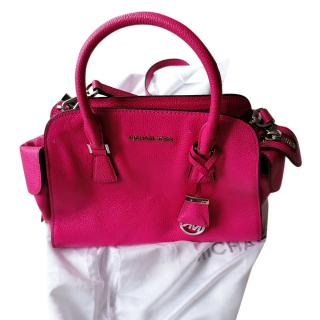 Michael Michael Hot Pink Leather Tote Bag