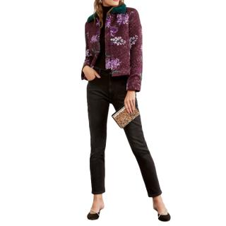 Kitri Joelle Purple Quilted Jacket