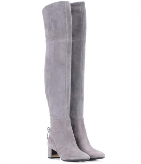 Tory Burch Laila 45 Suede Over-the-knee Boots In Carloe