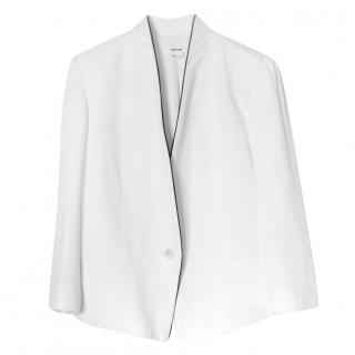 Helmut Lang White  Crepe Tailored Jacket