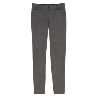 Christian Dior Grey Wool & Angora Blend Trousers