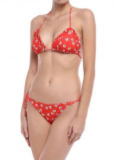 Ganni Big Apple Red Columbine String Bikini