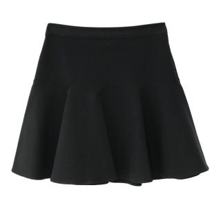 Adam Lippes Black Cotton Blend Mini Skirt