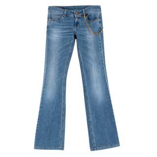 Gucci Light Blue Cropped Boyfriend Jeans