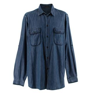 Louis Vuitton Blue Denim Long Sleeve Shirt