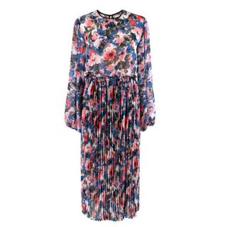 Misa Los Angeles Multi-coloured Floral Pattern Dress