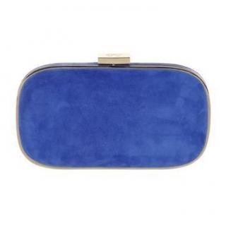 Anya Hindmarch Marano Blue Suede Box CLutch