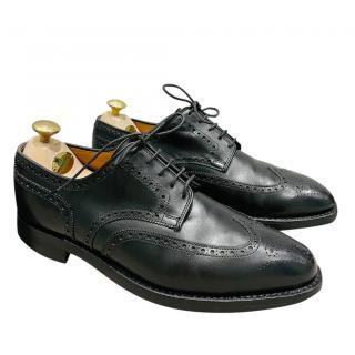 Crockett & Jones Black Leather Brogues