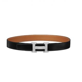 Hermes H Guillochee Belt Buckle & Reversible Leather Strap