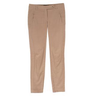 Loro Piana Cream Flannel Panelled Trousers