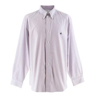 Brooks Brothers Purple & White Striped Regent Shirt