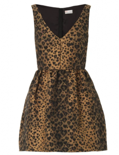 REDValentino Leopard-jacquard fit and flare dress