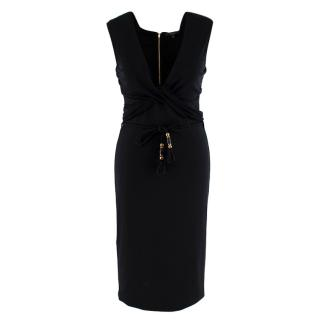 Gucci Black Sleeveless Dress With Rope Belt