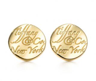 Tiffany & Co. Yellow Gold Tiffany Notes Round Earrings