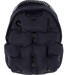 Stella McCartney Navy Puffer Falabella Backpack