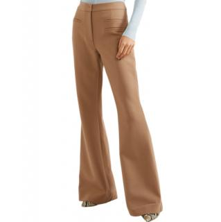 Rejina Pyo camel ashley wool-blend flared pants