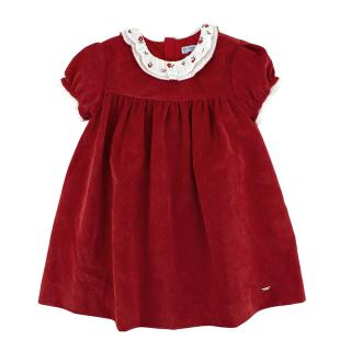 Mayoral Childrens Red Corduroy Dress