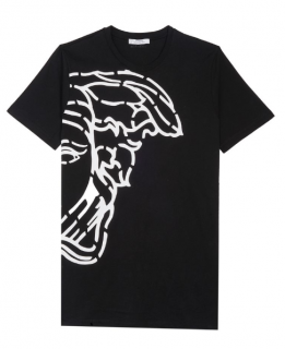 Versace Mens Black Medusa Print Top