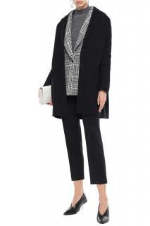 Joseph Black Wool & Cashmere Coat
